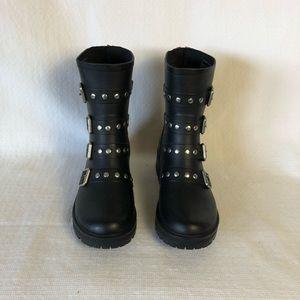 Steve Madden Moto Rain Boots - sized 8